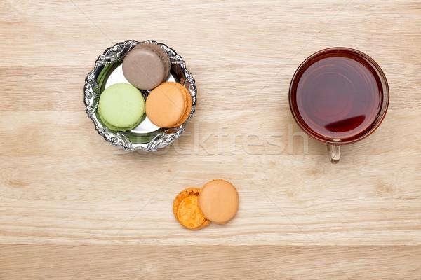 Establecer colorido vidrio taza negro té Foto stock © ironstealth