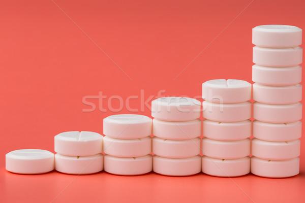 Graphique blanche pilules rose médicaux médecine Photo stock © ironstealth