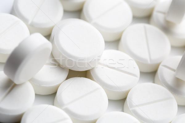 Round white pills Stock photo © ironstealth