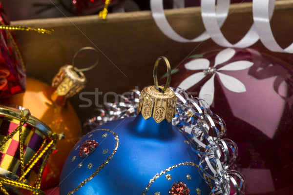 Noël coloré décoration bois boîte Photo stock © ironstealth