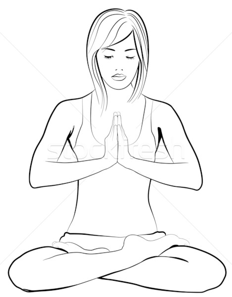 young  woman practicing yoga Stock photo © isaxar