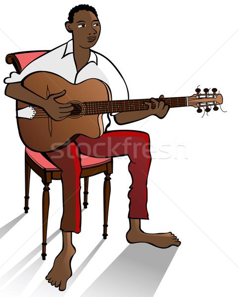 jazz guitarist Stock photo © isaxar
