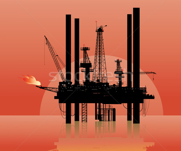 drilling platform Stock photo © isaxar