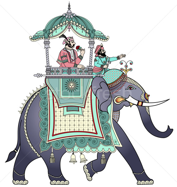 Decorated Indian elephant  Stock photo © isaxar
