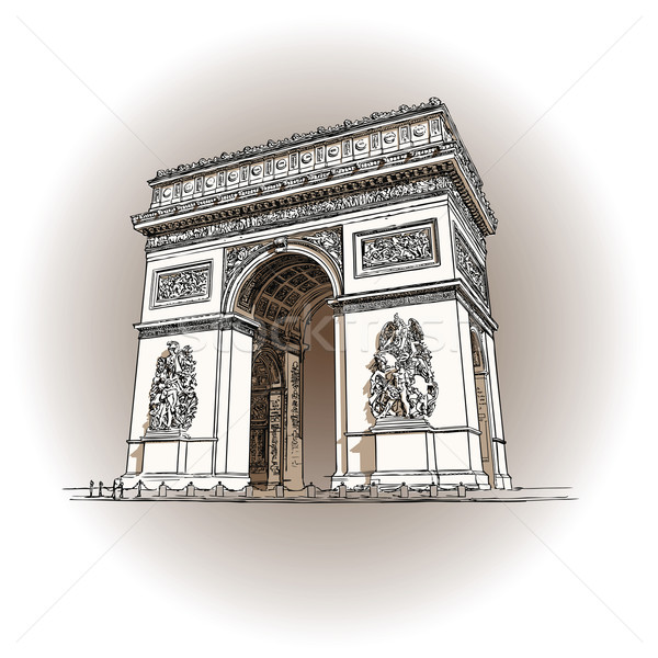 Arc de triomphe Stock photo © isaxar