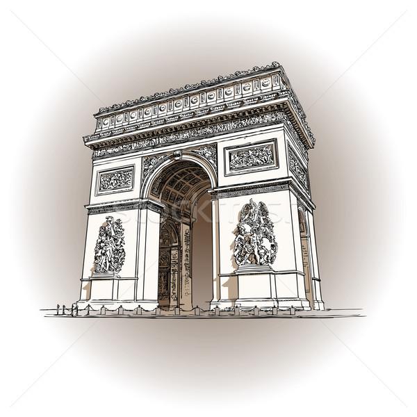 凯旋门 商业照片和矢量图