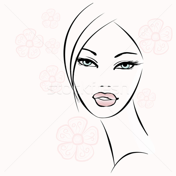 nice decorative woman face Stock photo © isaxar