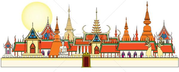 Bangkok kraliyet saray tarih Buda tapınak Stok fotoğraf © isaxar