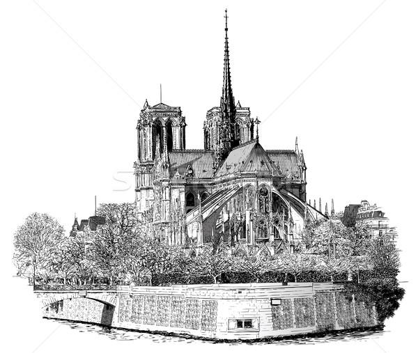 Notre Dame in Paris Stock photo © isaxar