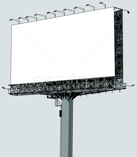 Vector illustration of a blank  billboard Stock photo © isaxar