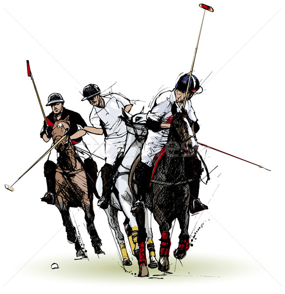 polo players Stock photo © isaxar