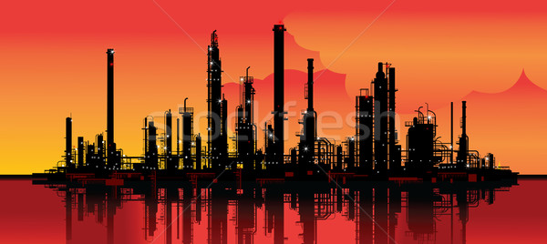oil refinery Stock photo © isaxar