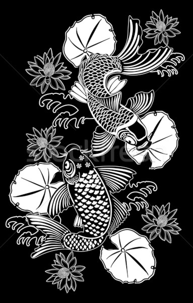 Koi traditioneel japans inkt stijl Stockfoto © isaxar