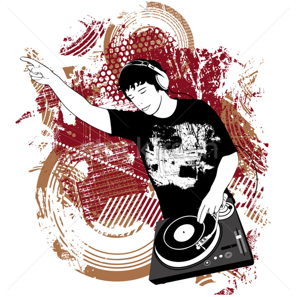 DJ at the turntable Stock photo © isaxar