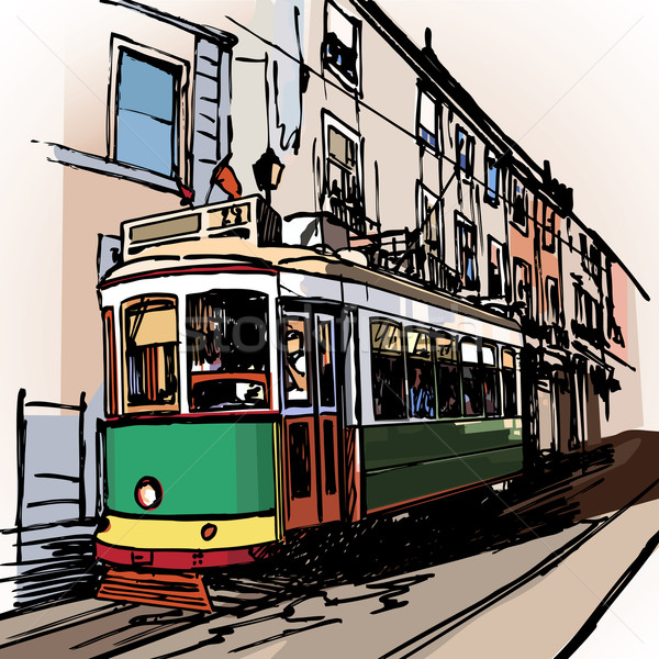 typical tramway  in Lisbon Stock photo © isaxar