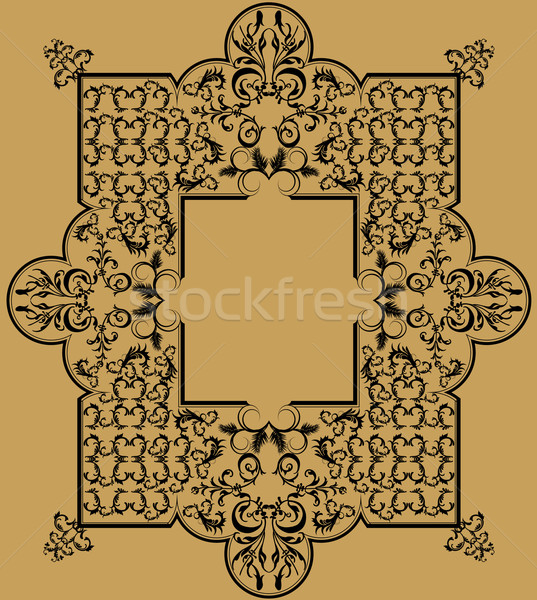 old mirror with a very beautiful and detailed iron frame Stock photo © isaxar