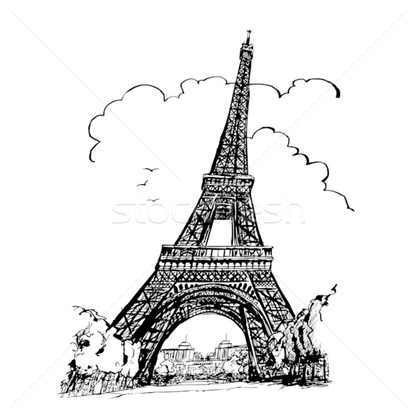 Préférence Tour Eiffel in Paris vector illustration © Isabel DA SILVA AZEVEDO  DX83