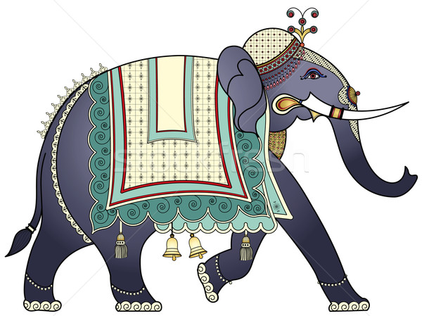 Indian elefant om culoare Asia Imagine de stoc © isaxar