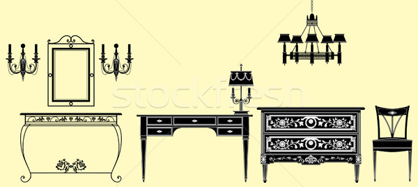 antique furniture collection  Stock photo © isaxar