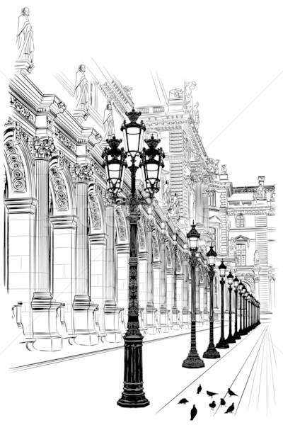 Paris klasik mimari Fransa inşaat seyahat Stok fotoğraf © isaxar