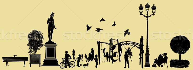 garden and park scenery collection Stock photo © isaxar