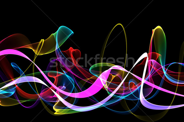 abstract ribbon waves Stock photo © Iscatel