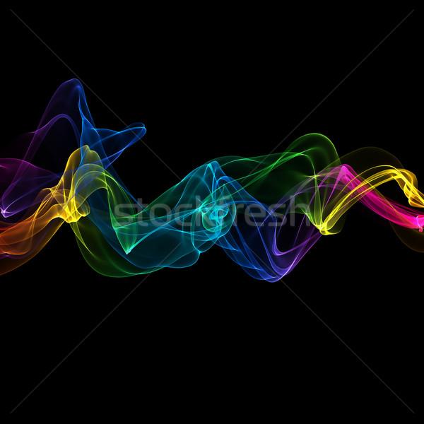Absztrakt szalag hullámok színes háttér füst Stock fotó © Iscatel