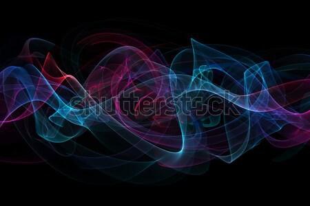 Absztrakt hullámok színes terv füst szivárvány Stock fotó © Iscatel