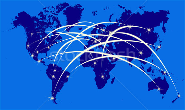 Internet on the world map Stock photo © Iscatel