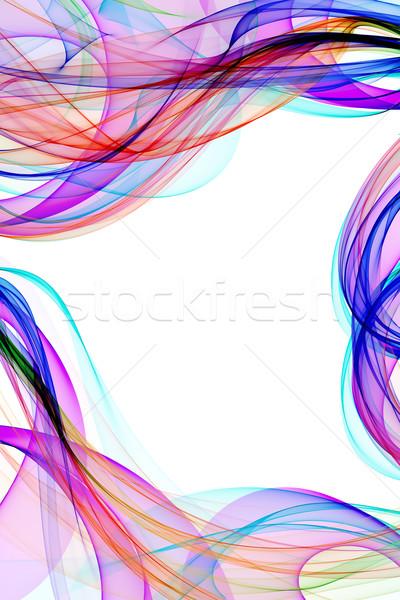 Résumé ruban vagues coloré lumière fond Photo stock © Iscatel