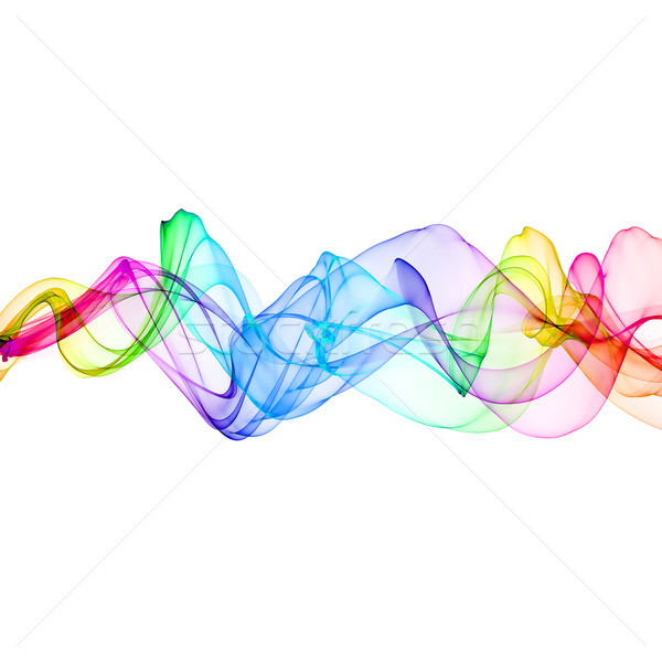Résumé ruban vagues coloré design fumée Photo stock © Iscatel