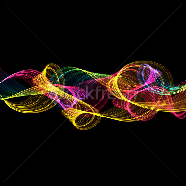 abstract twisted waves Stock photo © Iscatel
