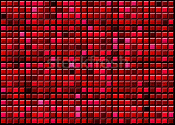 abstract red background of convex gradient squares Stock photo © Iscatel