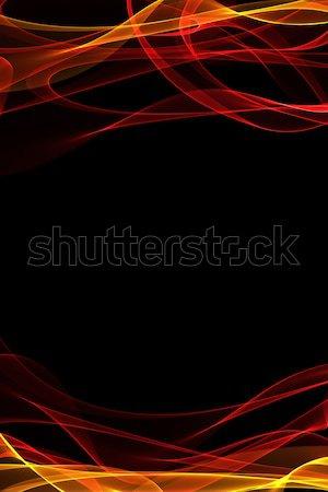 Absztrakt szalag hullámok színes fény terv Stock fotó © Iscatel