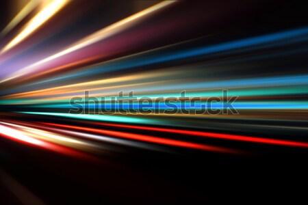 аннотация красочный город улице шоссе скорости Сток-фото © Iscatel
