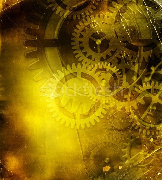 ретро механизм аннотация технологий фон промышленности Сток-фото © Iscatel