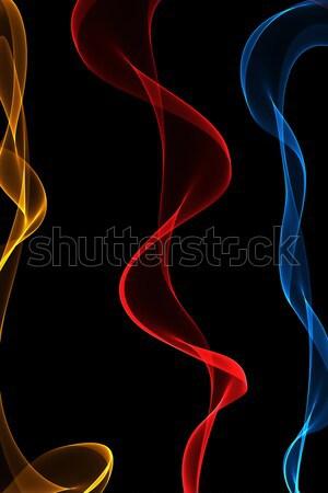 Absztrakt szalag hullámok színes terv füst Stock fotó © Iscatel