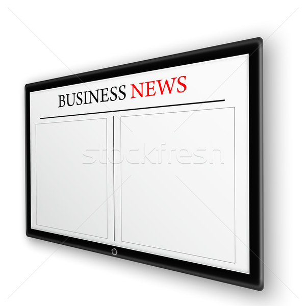 business news on tablet pc Stock photo © Iscatel