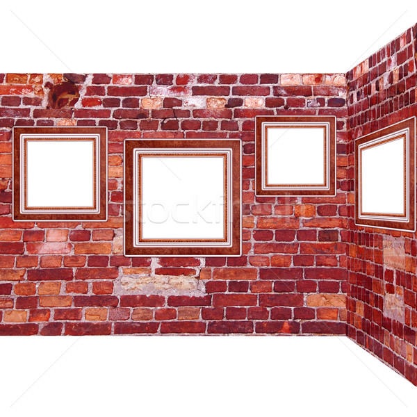 frames old leather on a brickwall Stock photo © Iscatel