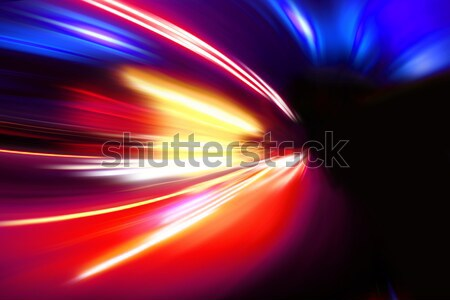 acceleration speed motion on night road Stock photo © Iscatel