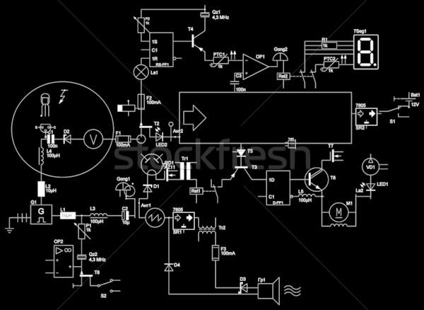 Résumé électrique circuit fond cadre web Photo stock © Iscatel