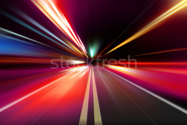 abstract night acceleration speed motion  Stock photo © Iscatel