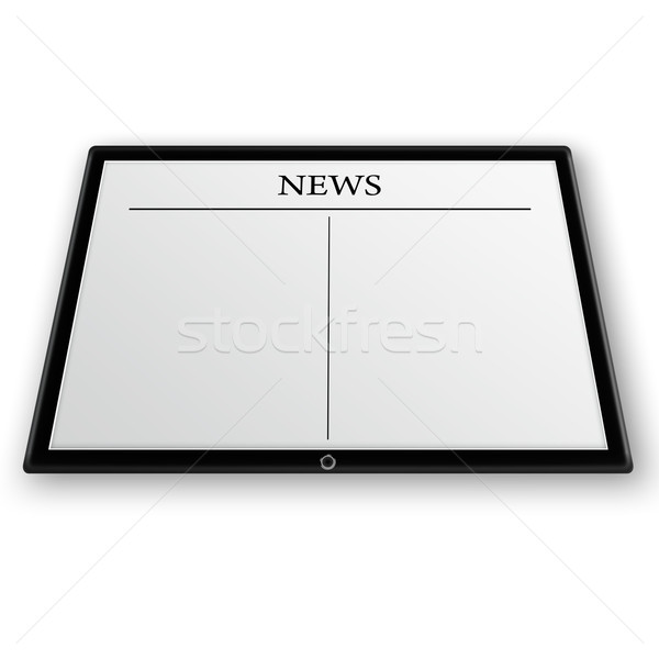 news on tablet pc Stock photo © Iscatel