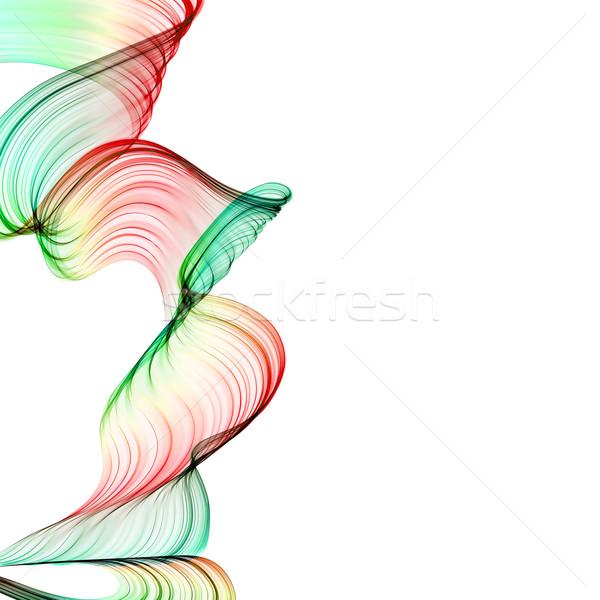 Résumé vagues coloré design fumée Rainbow Photo stock © Iscatel