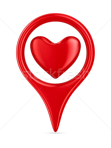 Isolated heart on white background. 3D image Stock photo © ISerg