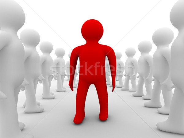 Stock photo: Conceptual image of teamwork. Isolated 3D image