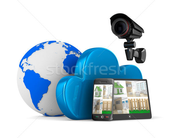 Video observation system. Isolated 3D image Stock photo © ISerg
