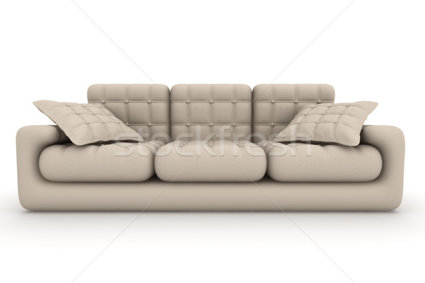 Isolated leather sofa. An interior. 3D image. Stock photo © ISerg