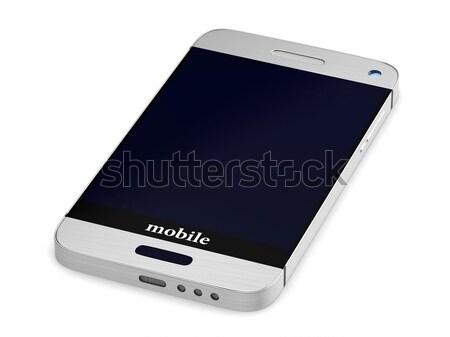 Stock fotó: Telefon · fehér · izolált · 3D · kép · internet