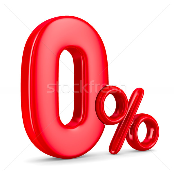 Zero percent on white background. Isolated 3D illustration Stock photo © ISerg